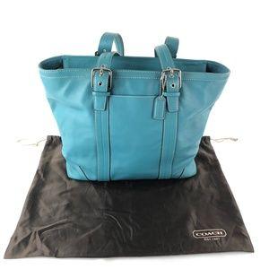 Coach Hampton Blue Tote Handbag A0872-F11202 EUC